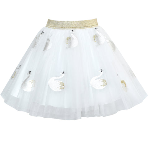 Girls Skirt Off White Swan Tutu Dancing Ballet Size 4-10 Years