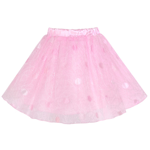 Girls Skirt Pink Dot Tutu Dance Ballet Size 4-10 Years