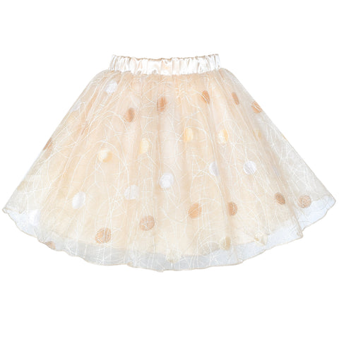 Girls Skirt Champagne Dot Tutu Dance Ballet Size 4-10 Years