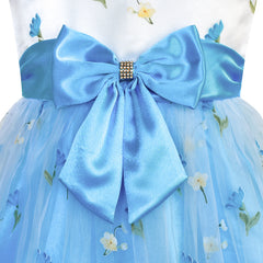 Flower Girls Dress Bow Tie Wedding Party Bridesmaid Size 2-10 Years