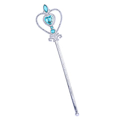 Princess Aurora Costume Briar Rose Accessories Crown Magic Wand Size 5-12 Years