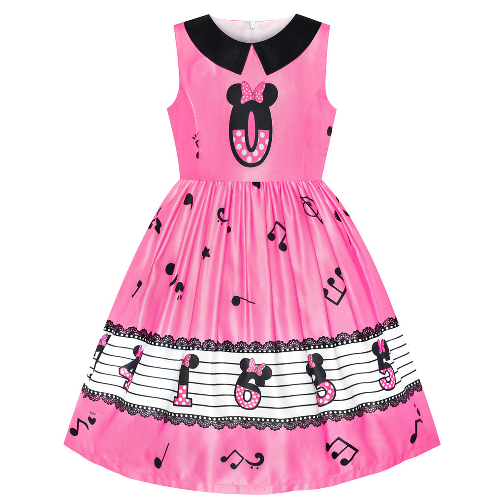 Girls Dress Birthday Princess Musical Note Party Size 4-8 Years
