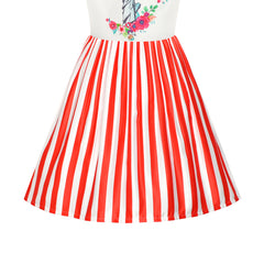Girls Dress American Flag National Day Statue Of Liberty Size 6-12 Years