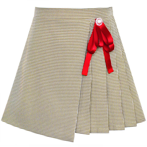 Girls Skirt Envelope Wrap Skirt Back School Uniform Size 6-14 Years