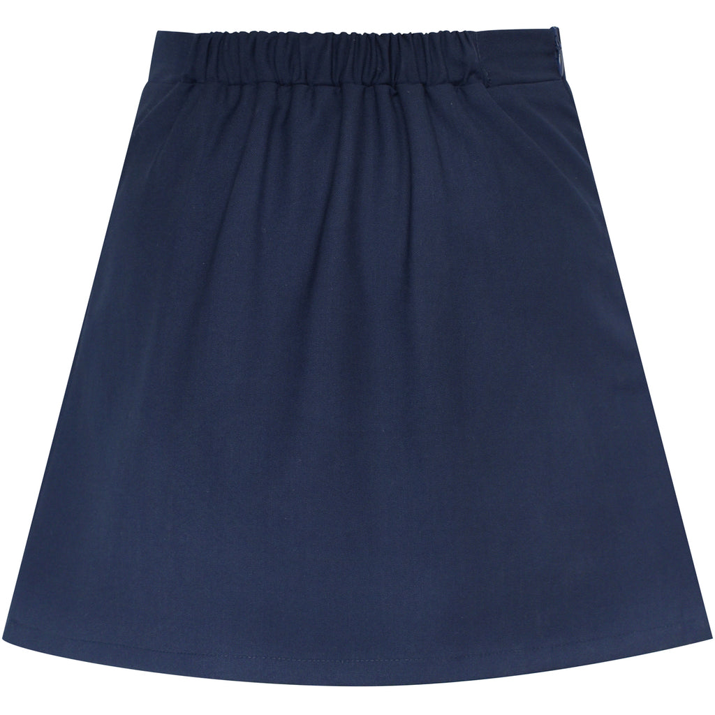 4211ff5e77 ... Girls Skirt Navy Blue Pleated Bow Tie Back School Uniform Size 6-14  Years ...
