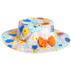2 Pieces Girls Dress Hat Colorful Flower Party Holiday Size 4-12 Years
