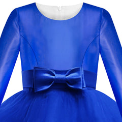 Girls Dress Royal Blue Bridesmaid Wedding Party Pageant Size 6-12 Years