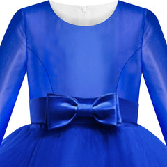 Girls Dress Royal Blue Ball Gown Wedding Party Pageant Size 6-12 Years