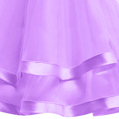 Girls Dress Long Sleeve Purple Ball Gown Wedding Party Pageant Size 6-12 Years