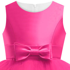 Girls Dress Deep Pink Ball Gown Wedding Party Pageant Size 6-12 Years