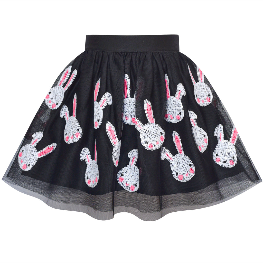Girls Dress Black Bunny Skirt Rabbit Easter Skirt Size 2-10 Years