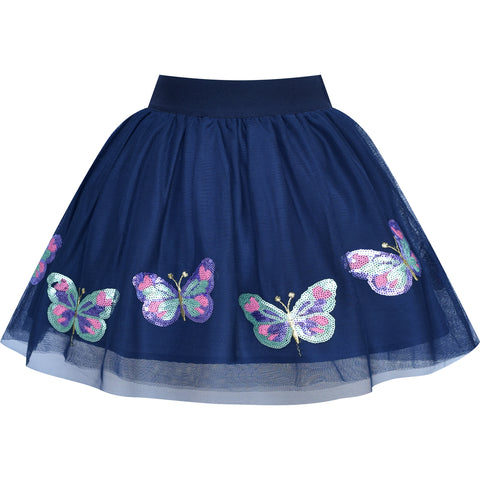 Girls Skirt Butterfly Embroidered Tutu Dancing Size 2-10 Years