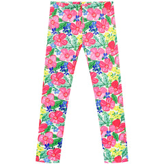 Girls Pants 2-Pack Casual Leggings Unicorn Floral Size 3-7 Years