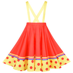 Girls Dress Clown Costume Halloween Carnival Of Cultures Rose Monday Size 4-10 Years