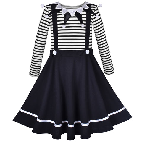 Girls Dress Set School Uniform Clown Costume Carnival Shirt And Skirt Size 4-10 Years