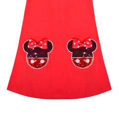 Girls Dress Long Sleeve Cute Bow Tie Casual Cotton Size 3-8 Years