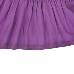 Girls Casual Dress Purple Easter Bunny Egg Hunting Cotton Short Sleeve Size 3-7 Years