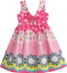 Girls Dress Pink Floral Print Size 12M-8 Years
