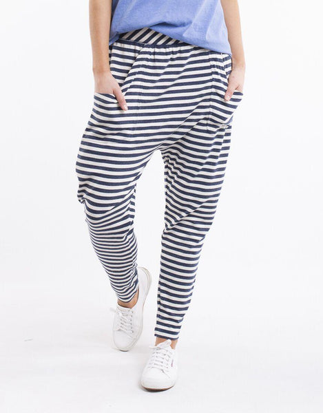Elm Weekender Stripe Pants - Denim Blue Stripe