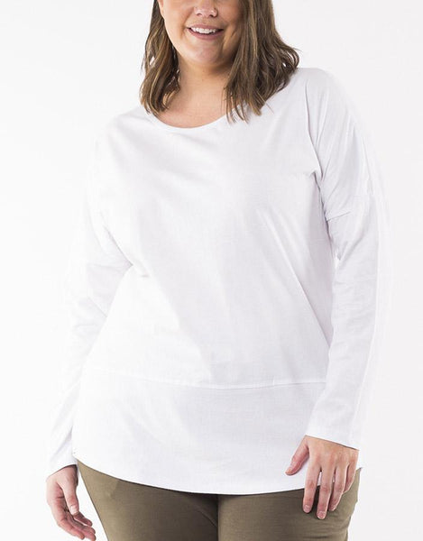 Elm Embrace Fundamental Rib L/S Tee - White
