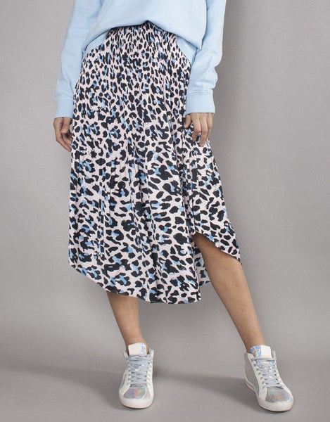 Soho Skirt – Blush/Blue Leopard