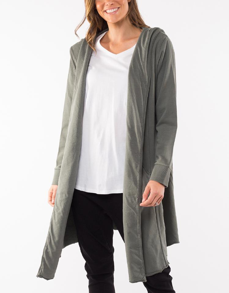 Foxwood Naomi Hooded Cardigan - Khaki