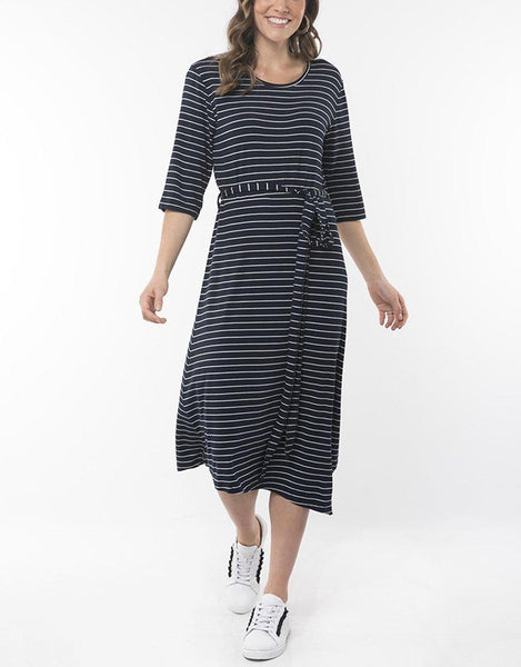 Elm Devoted Midi Dress - Navy