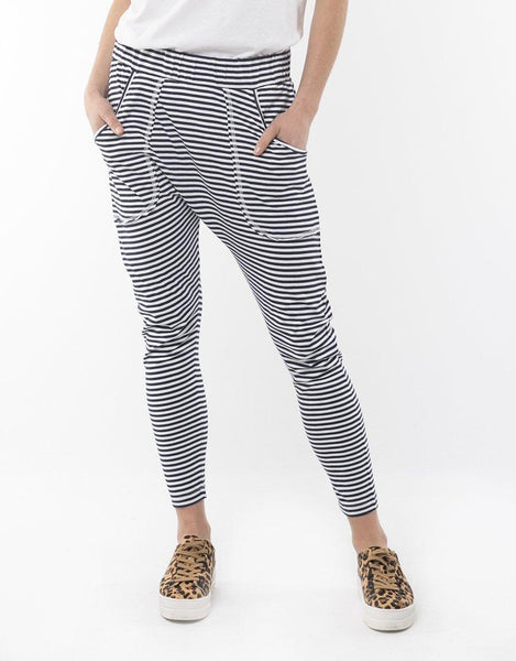 Elm Holly Weekender Pants - Navy Stripe
