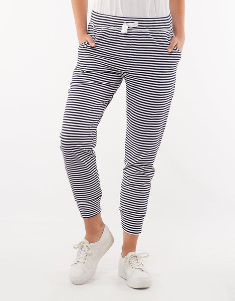 Elm Molly Wash Out Lounge Pants - Navy Stripe