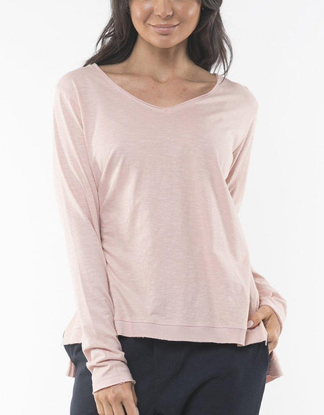 Foxwood Highline V Neck Top - Pink