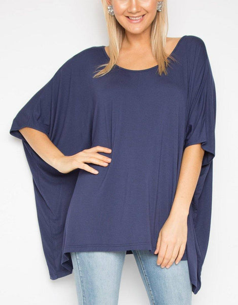 PQ Collection Bamboo A Nice Top - Navy