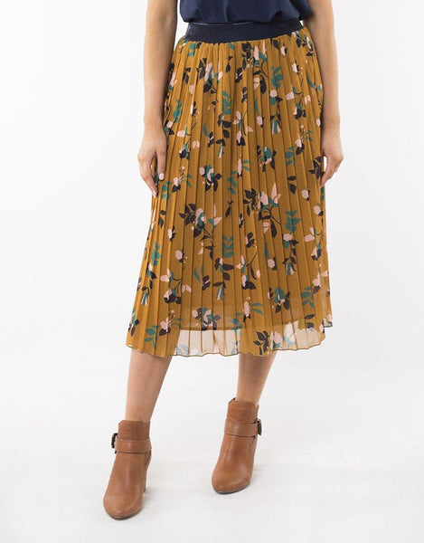 Elm Freesia Pleat Skirt - Gold