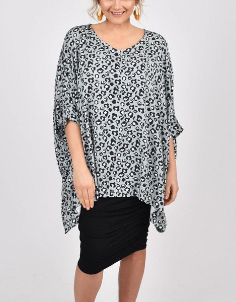 PQ Collection Essential Top - Moss Leopard