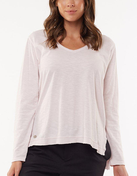 Foxwood Highline V Neck Top - Purple/Lilac