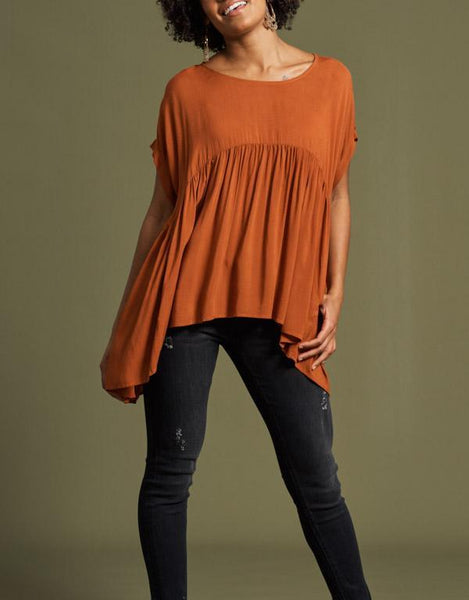 eb&ive Mahala Top - Terracotta