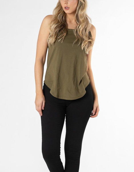 Betty Basics Essentials Keira Tank - Khaki