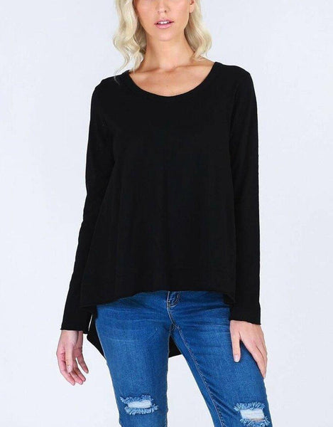 Willow Long Sleeve Tee - Black