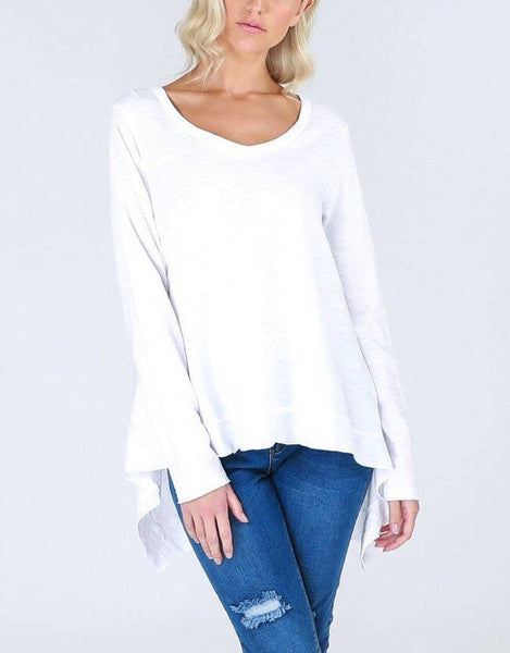 Willow Long Sleeve Tee - White