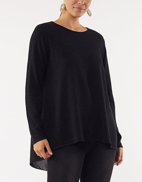 Flowing Mix Knit - Black