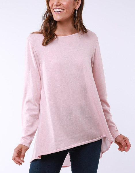 Flowing Mix Knit - Pink