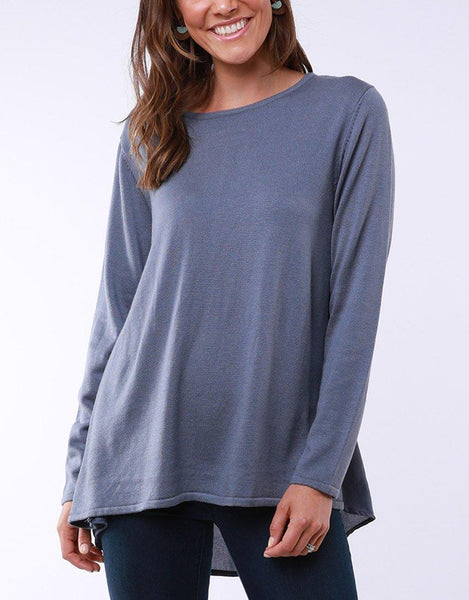 Flowing Mix Knit - Steel Blue