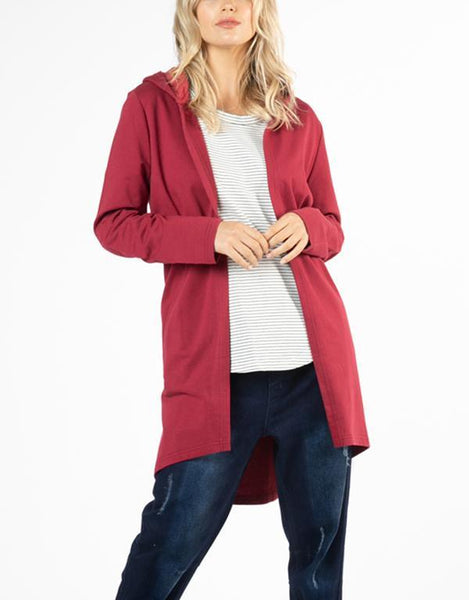 Betty Basics Essentials Jaden Hoodie - Wildberry