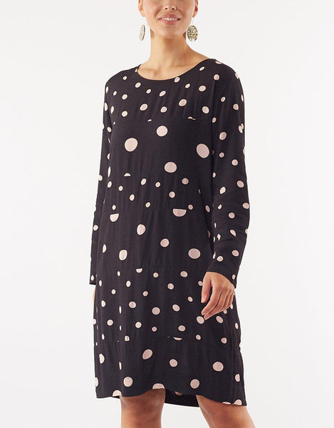 Holly Spot Dress - Black