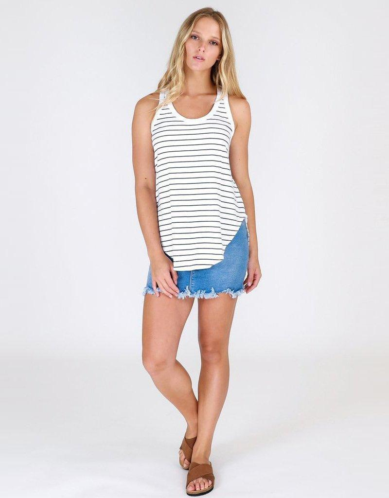 3rd story The Label Hamilton Stripe Tank - Indigo and White