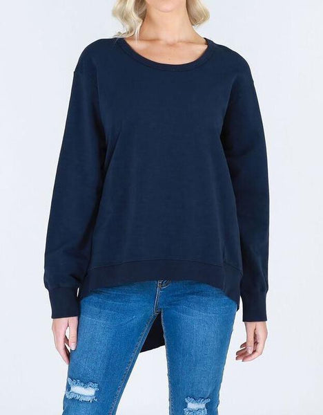 Plus Size 3rd Story Newhaven Sweater - Navy