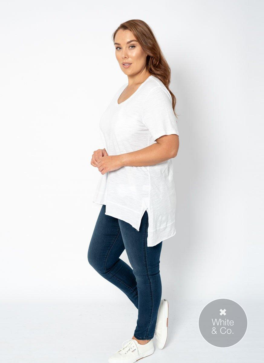 Plus Size 3rd Story Brighton Tee - White