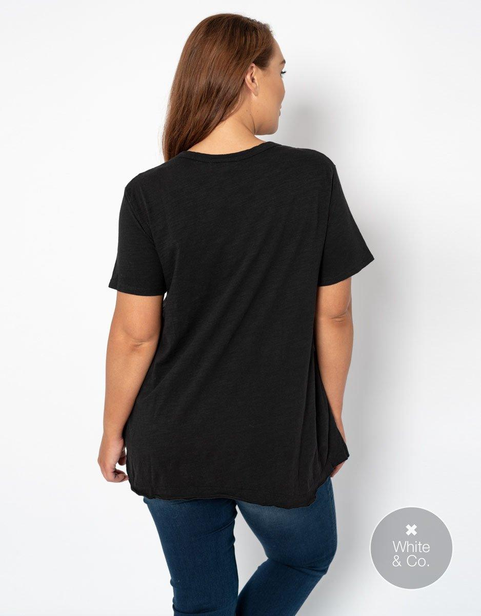 Plus Size 3rd Story Thornton Tee - Black