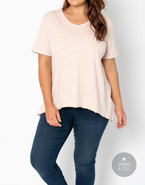 Plus Size 3rd Story Thornton Tee - Blush