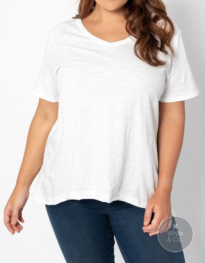 Plus Size 3rd Story Thornton Tee - White