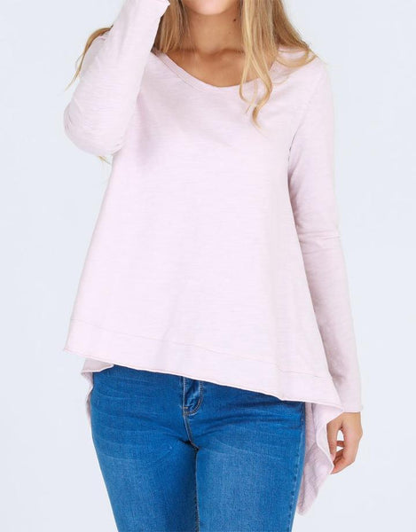 3rd Story Willow Long Sleeve Tee - Blush